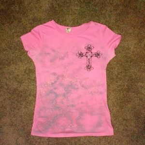 Vocal pink bling tee
